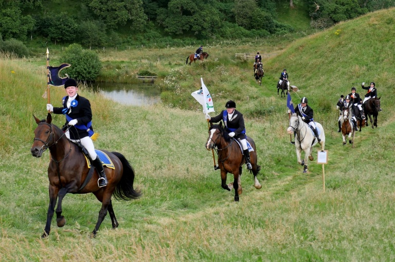 Principles galloping into the EAFS camp at Morton Castle.